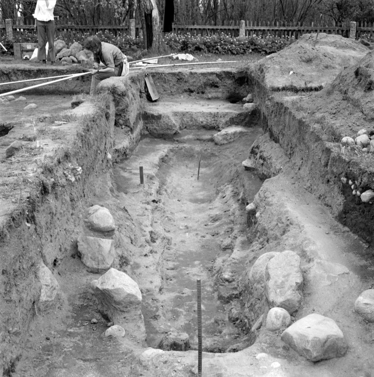 Prästgården, anläggning 3 - Arkeologi Gamla Uppsala 1973