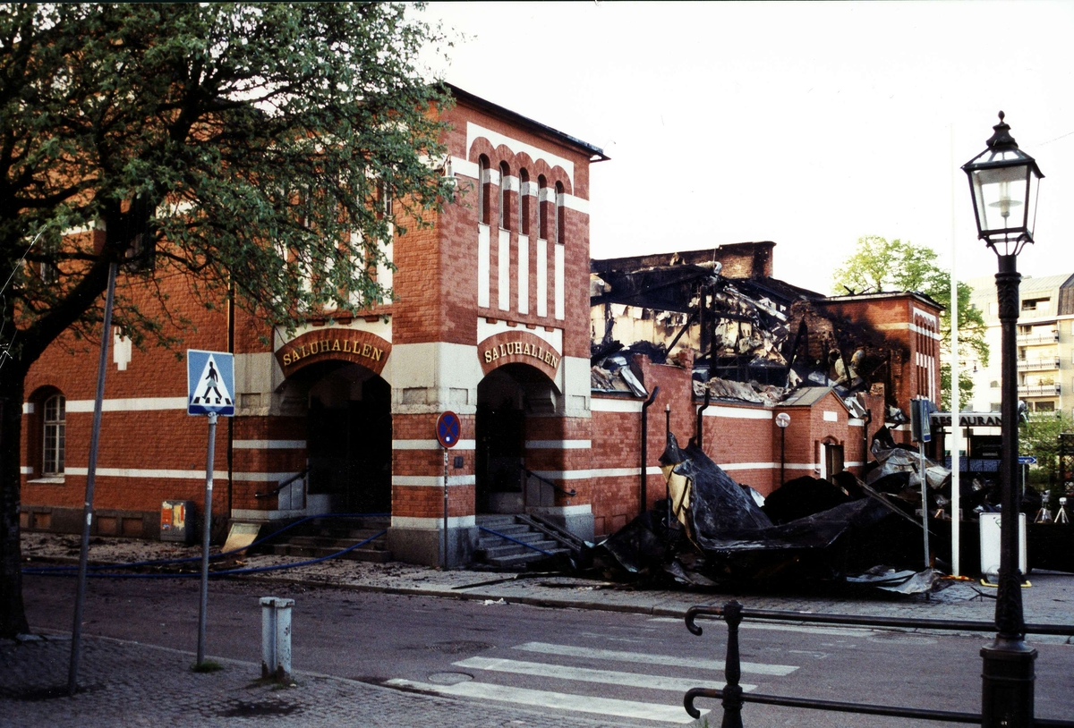 Saluhallen efter branden, Uppsala 2002