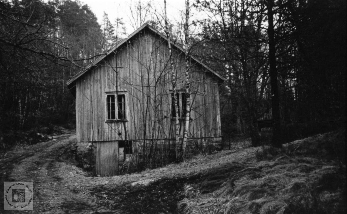 Den gamle verkstaden i Støa - inntil 1947.