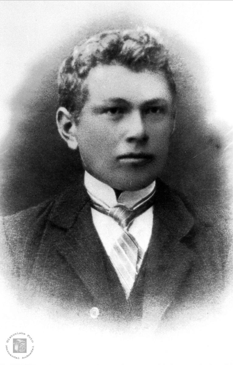 Portrett av Kornelius Eik, Søgne og Øyslebø.