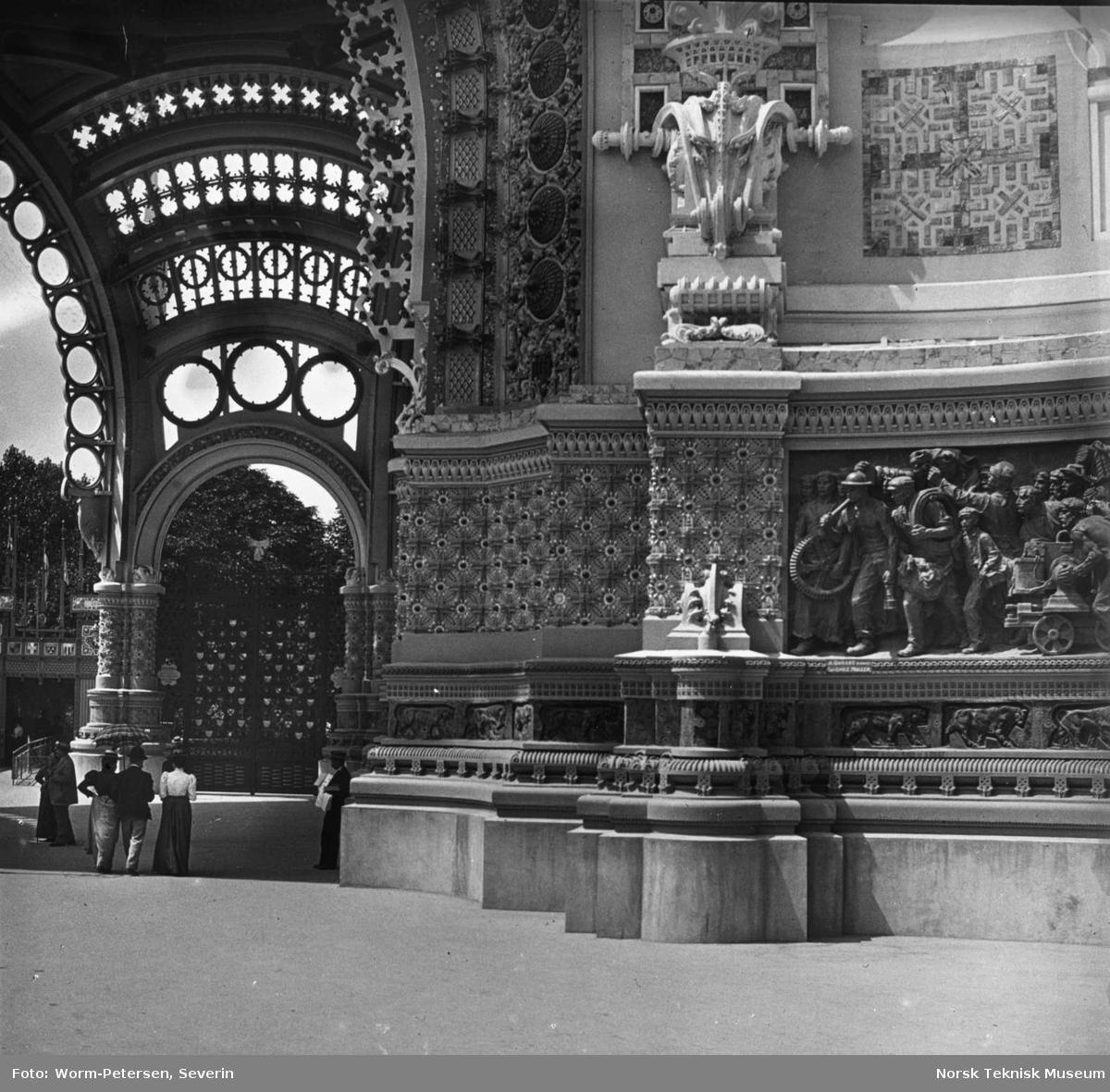 Frankrike: Porte Binet, detalj, Pariserudstillingen 1900