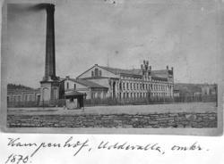 """Text på kortet: """"Kampenhof, Uddevalla, omkr. 1870""""."""
