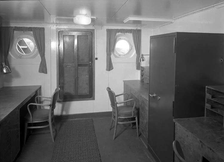 Interiör från fartyg 111 M/S Islas Malvinas, kontor