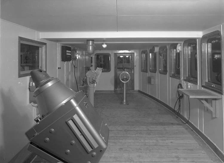 Interiör från fartyg 114 M/S Hjördis Thordén, styrhytt.