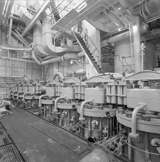 Interör från fartyget 136 M/T London Independence, maskinrum.