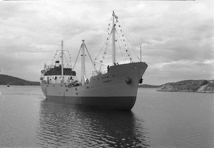 M/S Yngen DWT.1.132 Rideri O F Ahlmark & Co, Karlstad Kölsträckning 47-11-25 Nr.108 Leverans 48-07-09 Lastfartyg