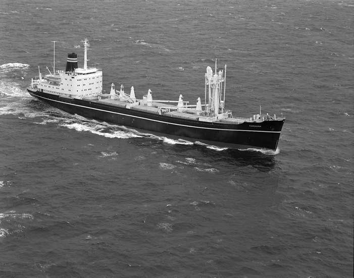 M/S Tiranna DWT. 12.900 Rederi Wilh. Wilhemsen, Oslo Norge Kölsträckning 66-11-19 Nr. 279 Leverans 67-06-30 Lastfartyg