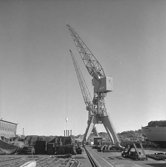 Kajkran Östra kajen, Kasen. Lyftkraft 10 ton. Anskaffningsår 1956.