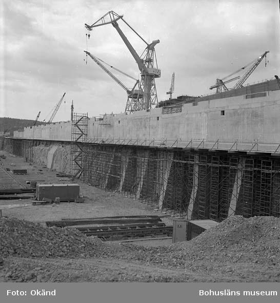 Projekt 73. Byggdockan under uppbyggnad, Sörvik.