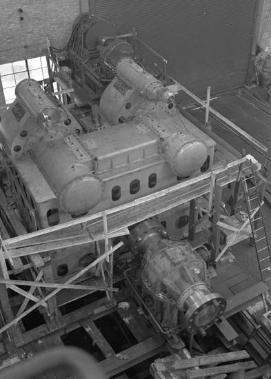 Fartygsinteriör från 133 T/T Josefina Thordén, maskinrum.