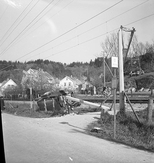 Bilolycka i Uddevalla i maj 1948