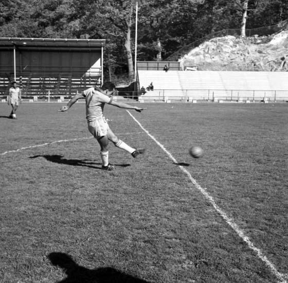 Brasiliens lag tränar på Rimnersvallen inför VM-match i fotboll 1958