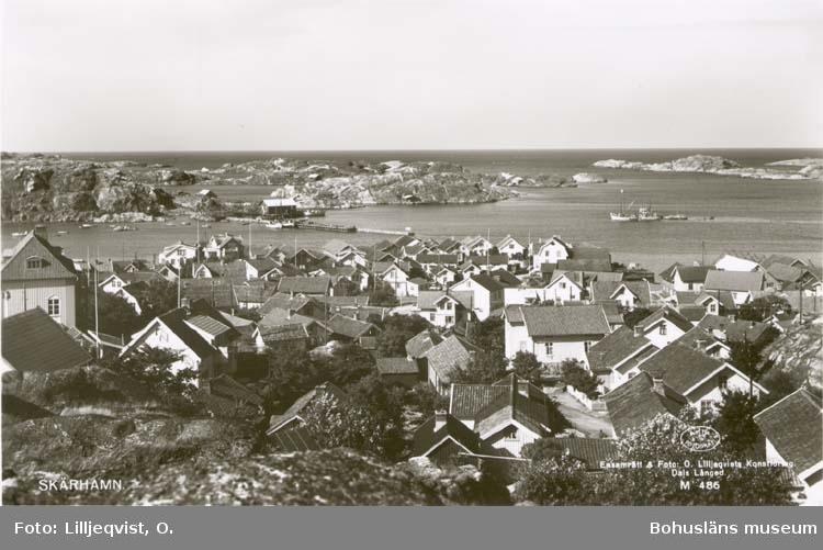 """Tryckt text på kortet: """"Skärhamn."""" """"Förlag: Ruckmans Bokhandel, Skärhamn."""""""