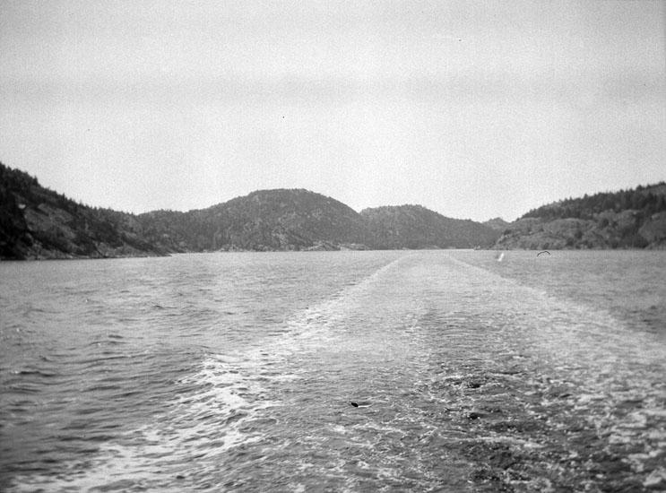 """Enligt text som medföljde bilden: """"Svinesund från ö."""". ::"""