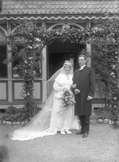 Brudparet Wallin, Foss prästgård 1917
