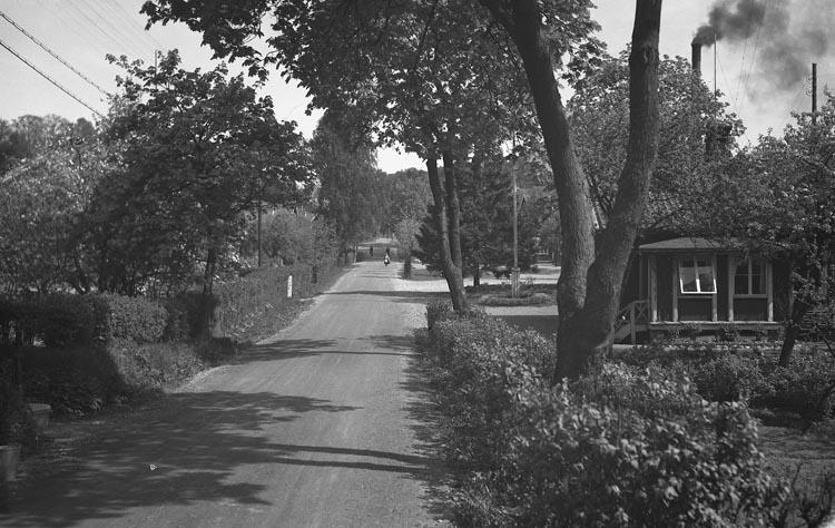 """Enligt fotografens noteringar: """"Strandbergs hus, främst Munkedal."""""""