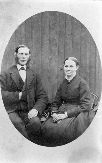 """Enligt fotografens journal nr 1 1904-1908: """"Nilsson, Augusta Stenungsund kopia""""."""