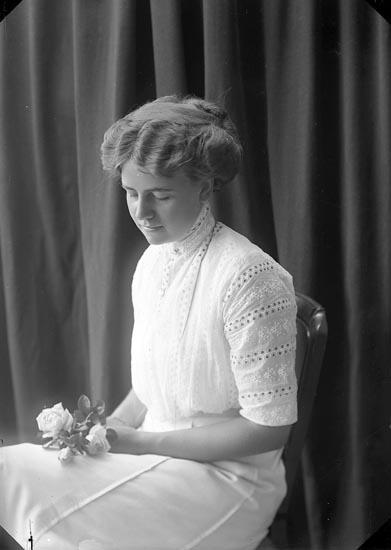 """Enligt fotografens journal nr 2 1909-1915: """"Sjöholm, Fr. Ön""""."""
