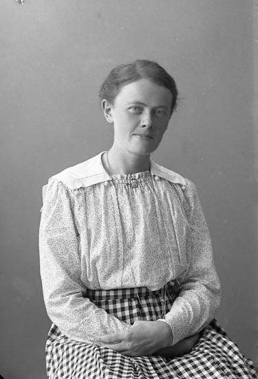 """Enligt fotografens journal nr 4 1918-1922: """"Olsson, Fr. Olga Järnklätt Här""""."""