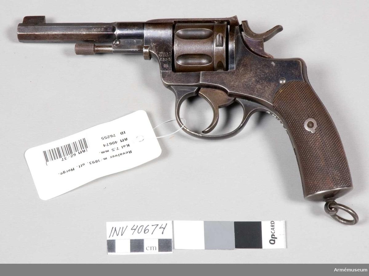 Grupp E III. Samma revolver antogs i Norge s.s. m/1893.