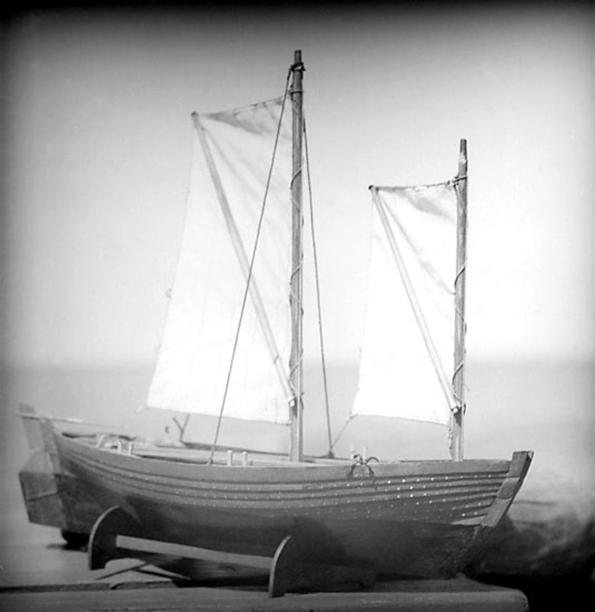 Skrivet på baksidan: Passbaad fra Skagen, til Skagens Museum