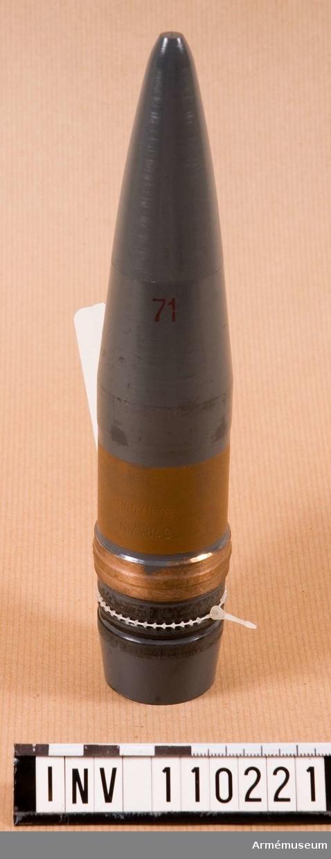 40 mm spårljusövningsprojektil m/484C