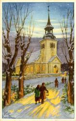 Notering på kortet: God Jul och Gott Nytt År.