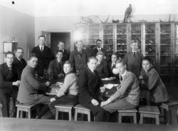 Läroverksklass i biologisalen 1930