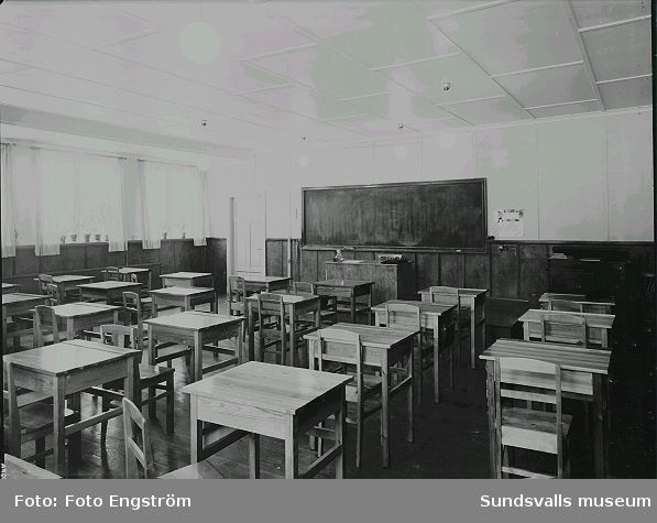 Klassrum i Ankarsviks skola.