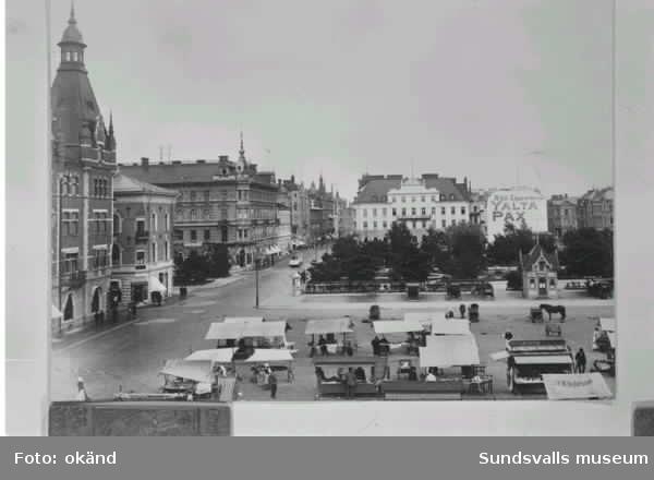 Stora torget i Sundsvall.
