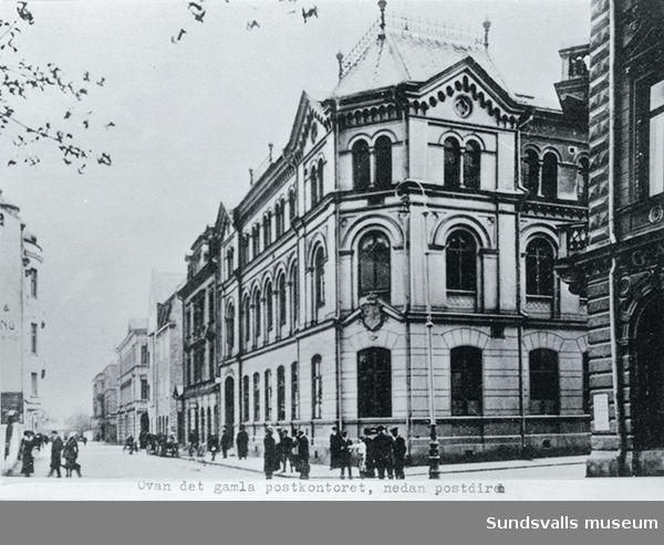 Gamla huvudpostkontoret på Kyrkogatan-Bankgatan.