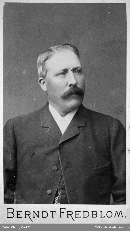 August Johansson var Valdeborg Johanssons far. Han var specerihandlare i Haga i Göteborg. Han dog 1922. Ur Valdeborg Johanssons fotoalbum.