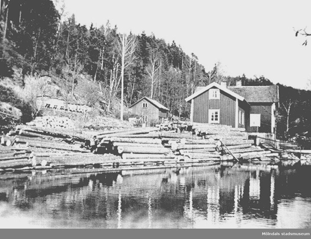 Ålgårdsbacka kvarn och såg innan år 1950.