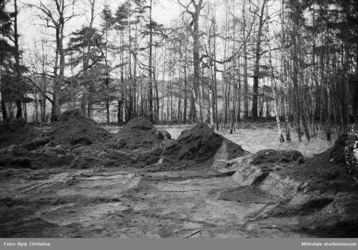 Arkeologisk utgrävning i Hultet, Kållered, 30/11 1991.