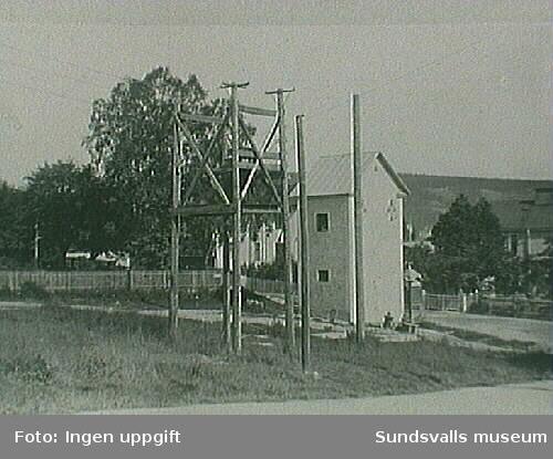 Transformatorstation Järntorget vid Nygatan/Parkgatan.