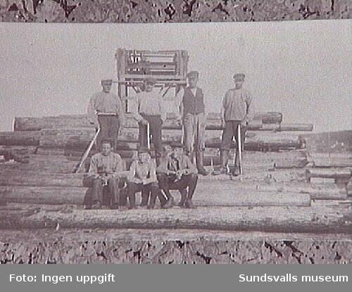 Timmerrullning vid Svartviks sågverk.