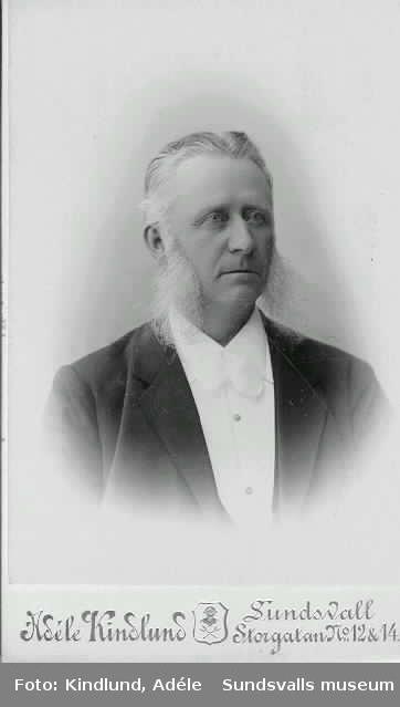 Anders Gabriel Dahlman (f. 1833 d- 1899). Grundare av A. G. Dahlmans garnbod och senare Dahlmans varuhus vid Storgatan i Sundsvall.
