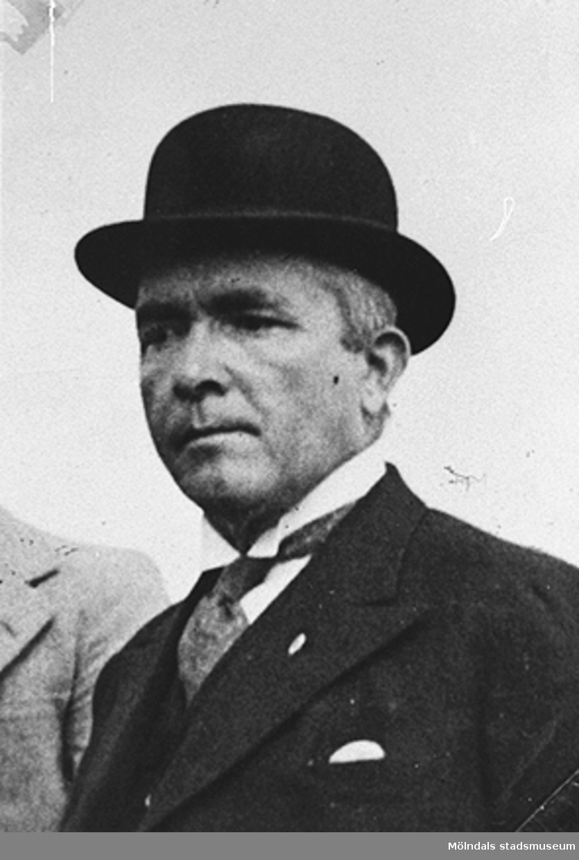 Carl Krantz, skomakare på Stretered. Porträtt taget på 1940-talet. Carl är morfar till givaren Karin Hansson f Pettersson.