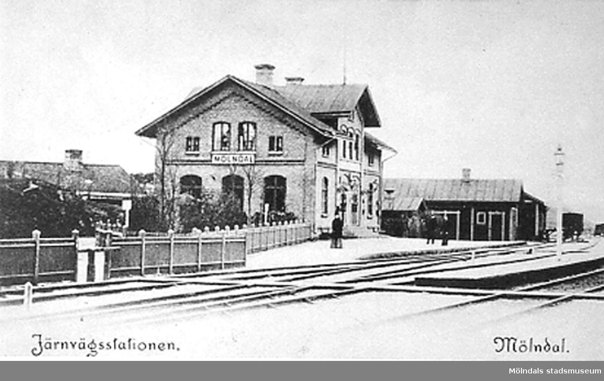Mölndals övre järnvägsstation.