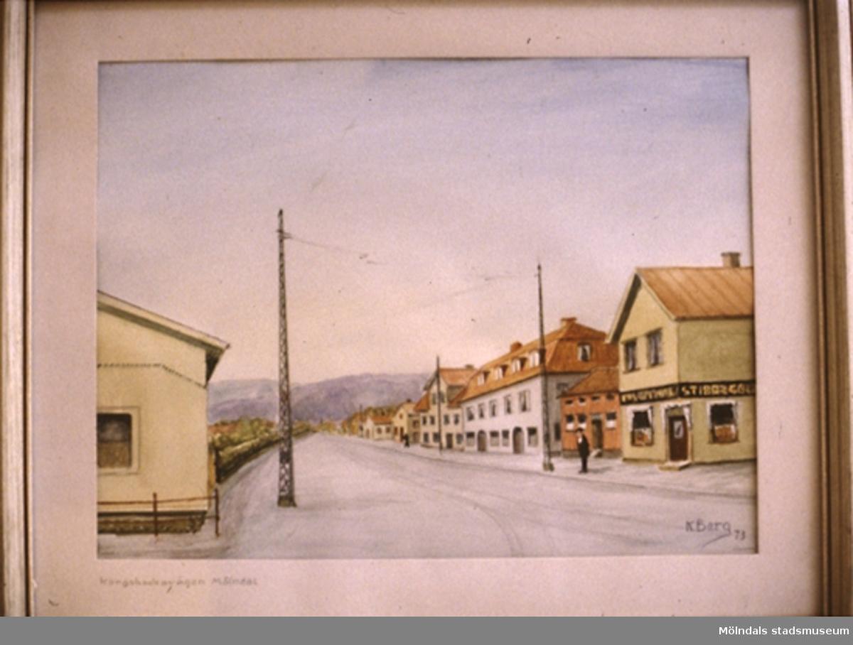 En tavla målad av den naivistiske mölndalskonstnären Knut Berg.
