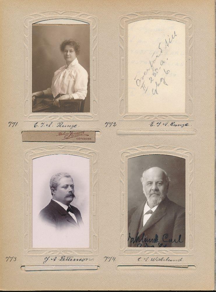 Porträtt av Ebba Ida Augusta Kunze, filialföreståndare vid Göteborg 6 1897-1909 och sedan postmästare 1910-1923.