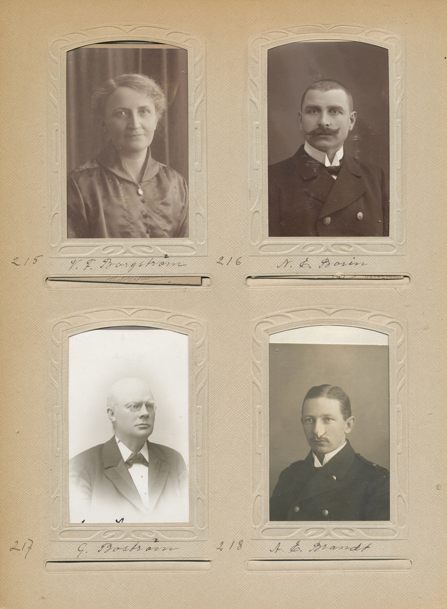Porträtt av Gusten Boström postmästare i Övertorneå 1891-1893, i Hedeviken 1893-1898 samt i Vännås 1898.1916.