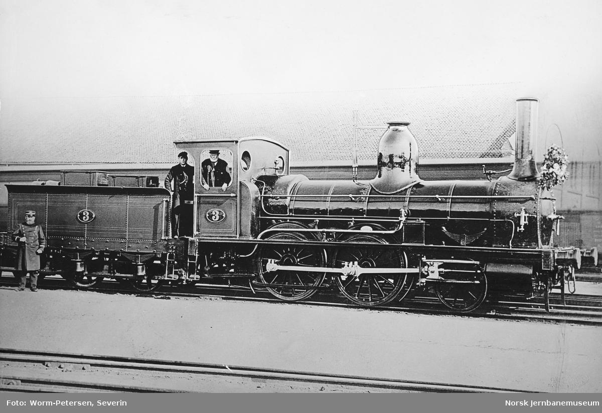 Hovedbanens damplokomotiv litra A nr. 3