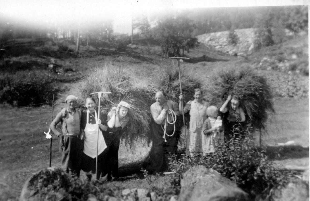 Slått på Nedrebø i Spokkeligrend 1947