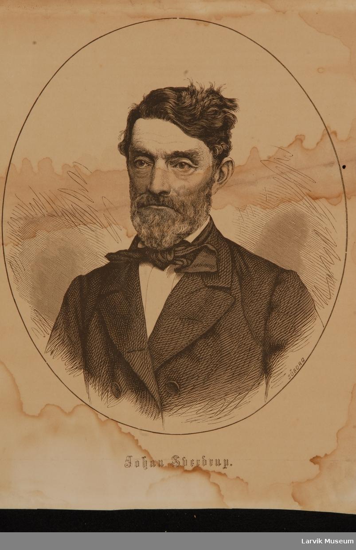 Johan Sverdrup i oval medaljong