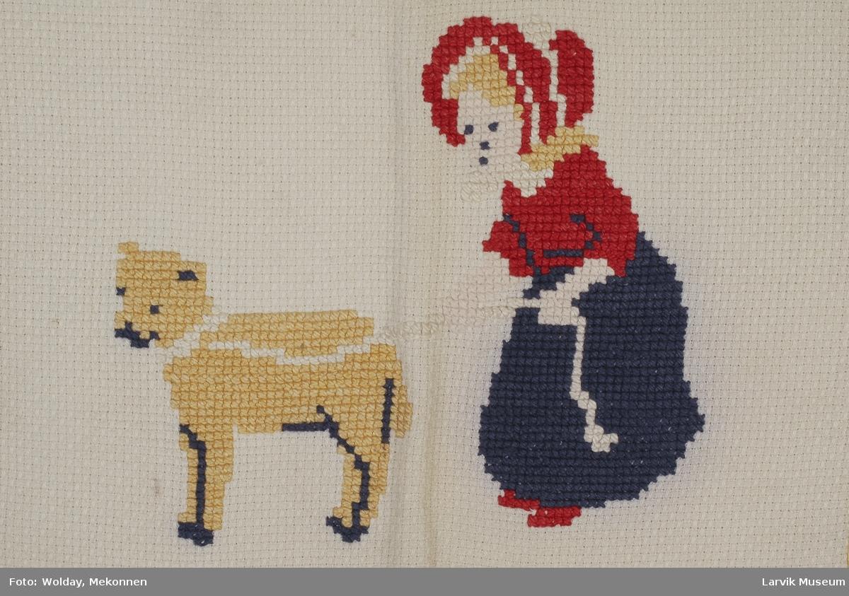 Jente og hund
