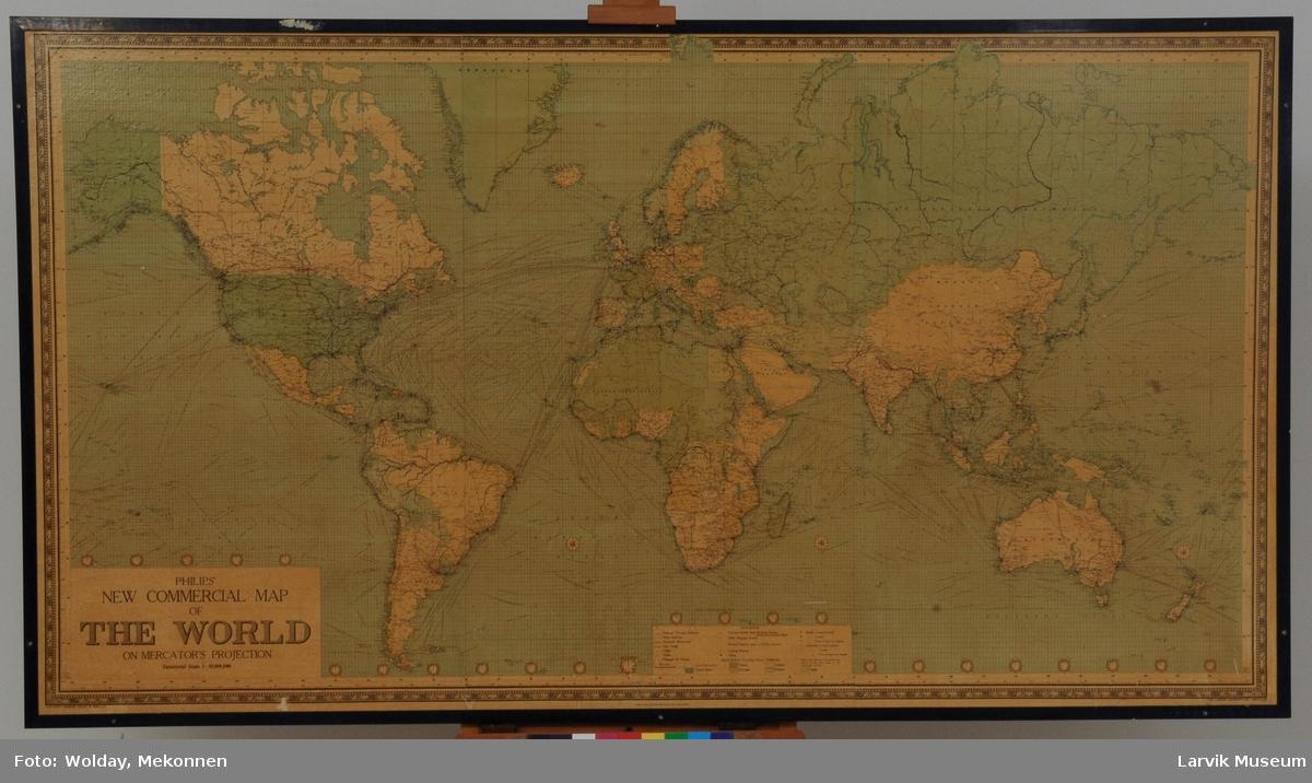 Verdenskart, målestokk 1:20,000,000