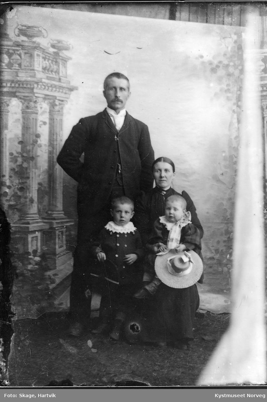Ukjent familie på fire
