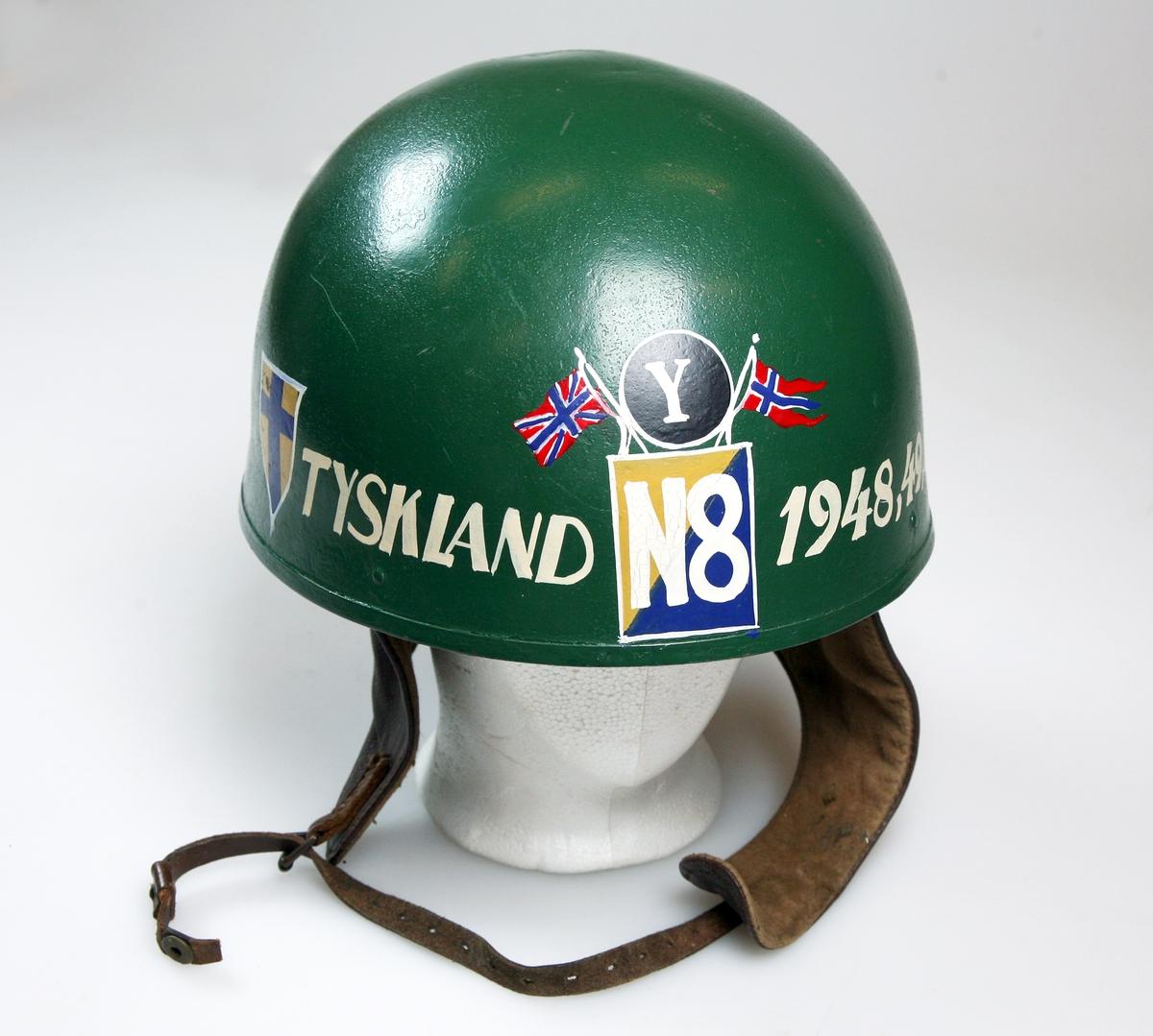 Minnehjelm fra Tysklandsbrigaden.