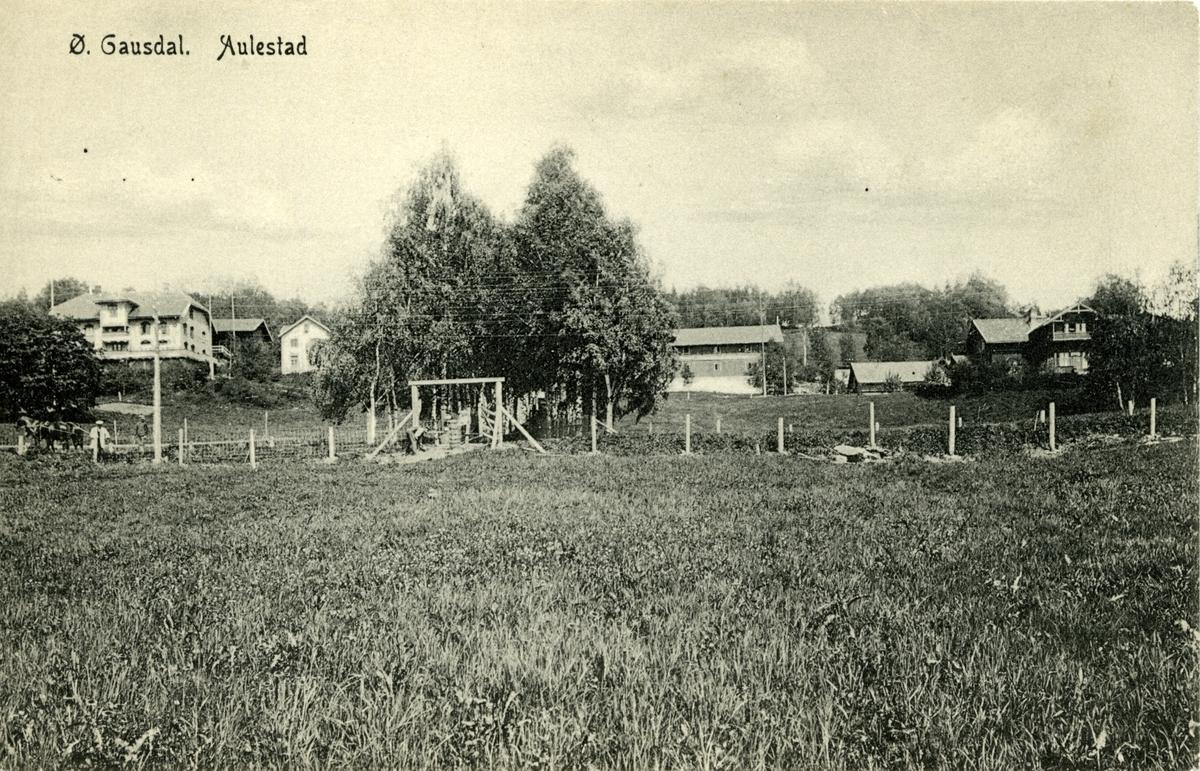 Aulestad, Nedre Aulestad (Erling-huset), allé, postkort